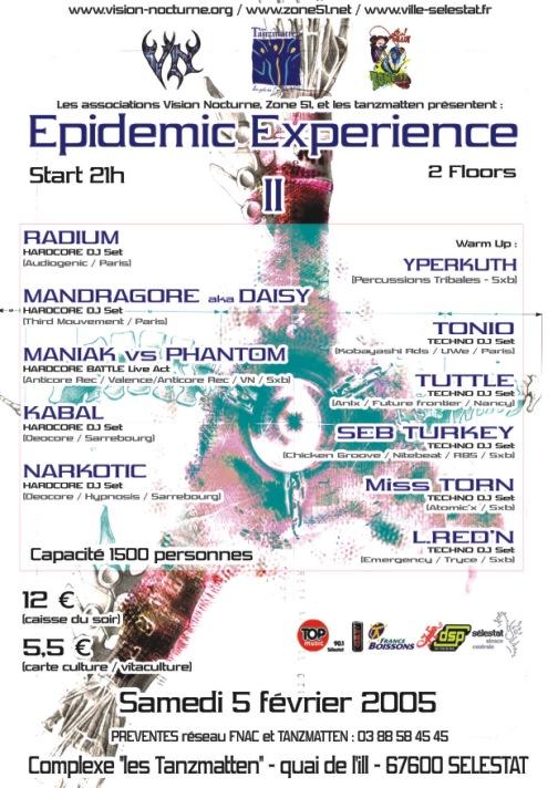 EPIDEMIC EXPERIENCE 2005 ZONE51 SELESTAT