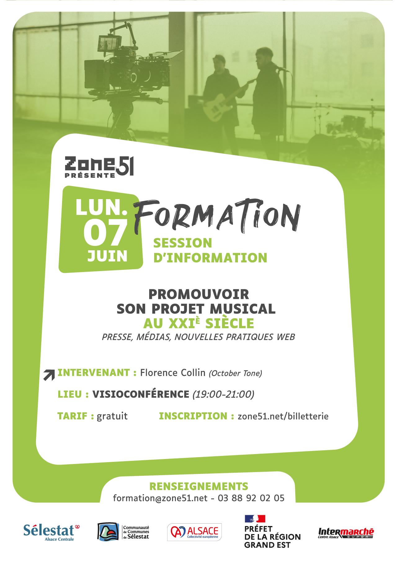 [ Formation / Session d'information : Promouvoir son projet musical au XXIe siècle (presse, médias, nouvelles pratiques web) ]